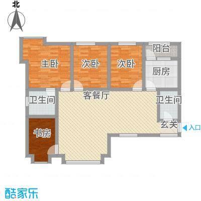 阳光曼哈顿11.80㎡户型3室2厅2卫1厨