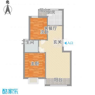 愉景湾85.00㎡户型2室2厅1卫1厨