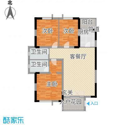 金元国际新城135.00㎡户型3室