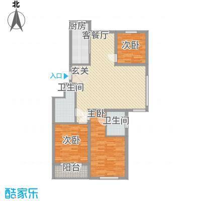 山水华府11.57㎡户型3室2厅2卫