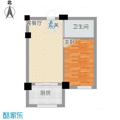 竹林・金地华府48.22㎡2户型1室1厅1卫1厨
