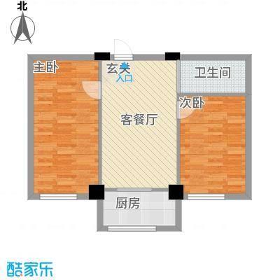 竹林・金地华府7.58㎡6户型2室1厅1卫1厨