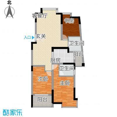 江南经典花园121.64㎡1号楼3层C19户型3室2厅1卫1厨