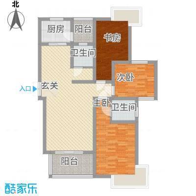 乾盛兰庭127.00㎡C2户型3室2厅2卫1厨