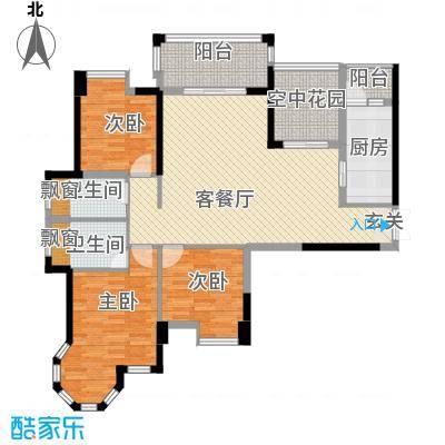 东信华府13121.76㎡B1户型3室2厅2卫1厨
