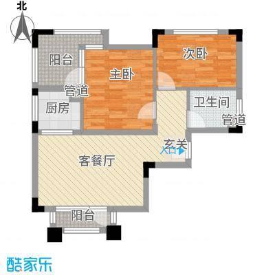 纳尼亚小镇81.00㎡公寓J户型2室2厅1卫1厨