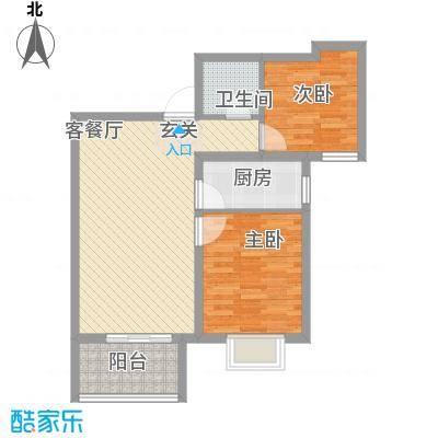 鼎泰・观澜83.52㎡B2户型