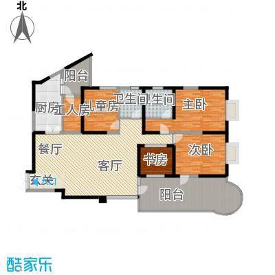 龙汇花园185.20㎡8栋B、E型户型5室2厅2卫1厨