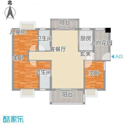 锦绣豪庭116.51㎡C1户型3室2厅2卫1厨