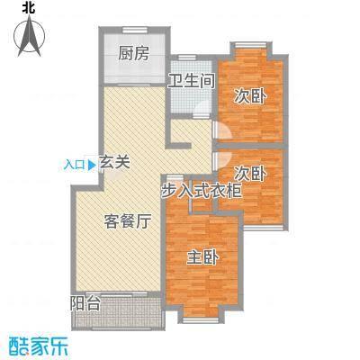 海信盈城户型2室1厅1卫