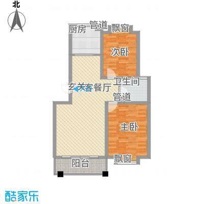 海信盈城2户型2室1厅1卫