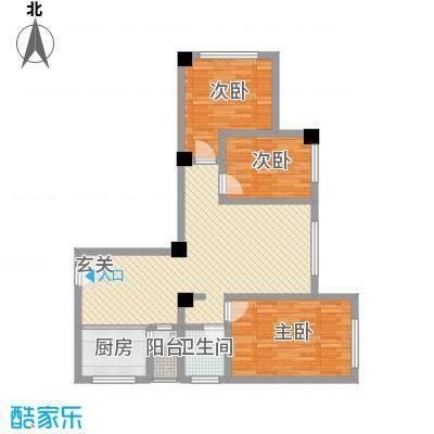 天悦国际公寓15.42㎡F户型3室2厅1卫