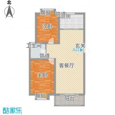 海信盈城1户型2室2厅1卫