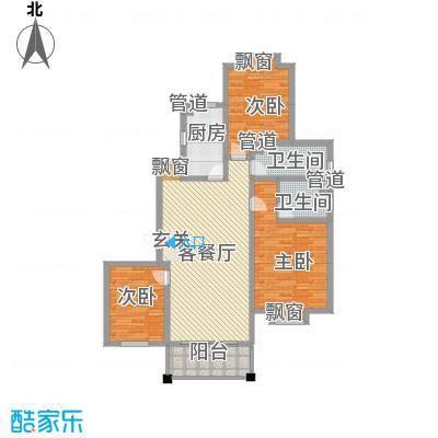 海信盈城5户型3室2厅2卫