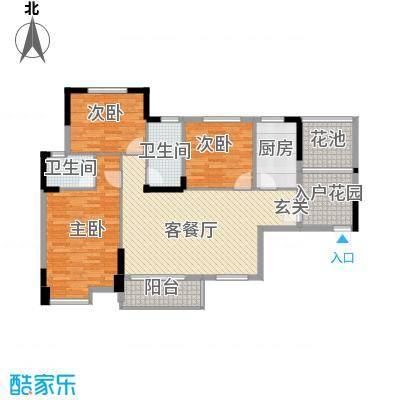 东信华府1312.32㎡C1户型3室2厅2卫1厨