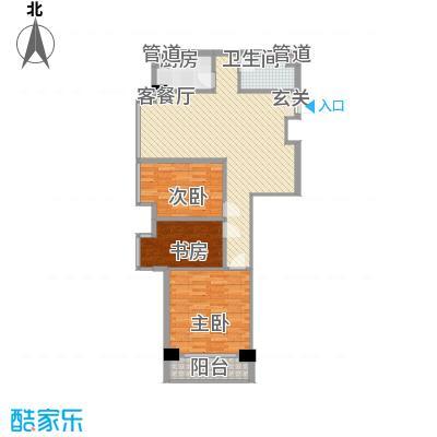 宏祥盛世6.11㎡4#楼D户型3室1厅1卫1厨