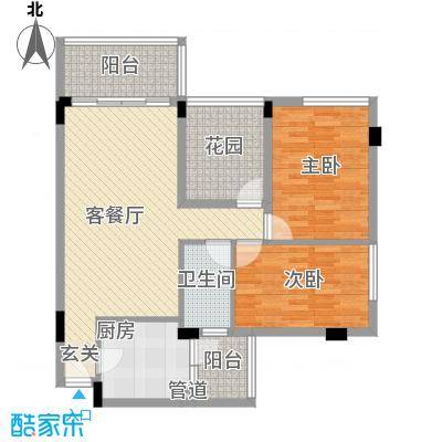 乾城美景7.70㎡3栋1单元、2单元02、0户型2室2厅1卫1厨