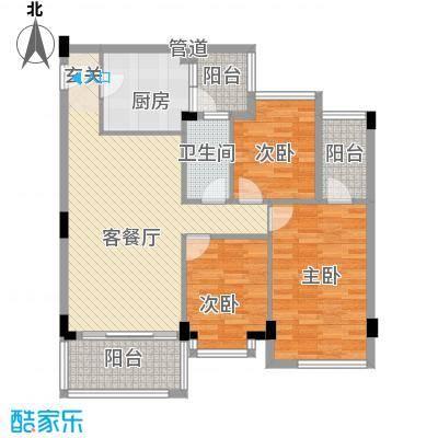 乾城美景2.18㎡2、3、4栋01、0户型3室2厅1卫1厨