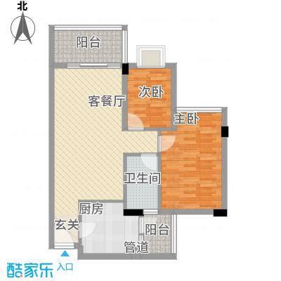 乾城美景72.16㎡4栋2单元0户型2室2厅1卫1厨