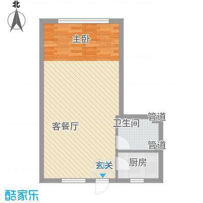 祥瑞家园5.38㎡购物中心户型1室1厅1卫