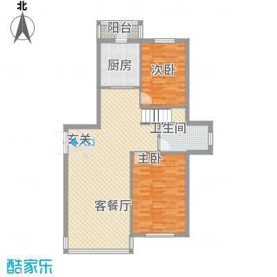 祥瑞家园154.17㎡4号楼户型2室2厅1卫