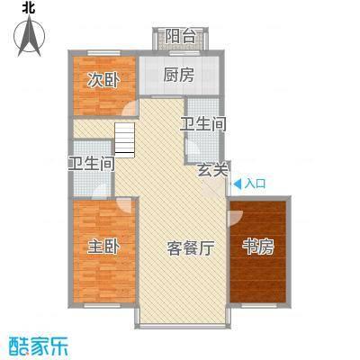 祥瑞家园14.16㎡4号楼户型3室2厅2卫