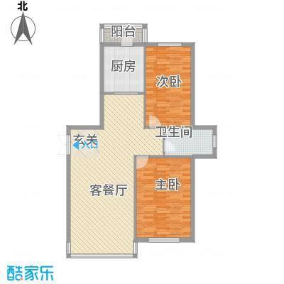祥瑞家园115.13㎡4号楼户型2室2厅1卫