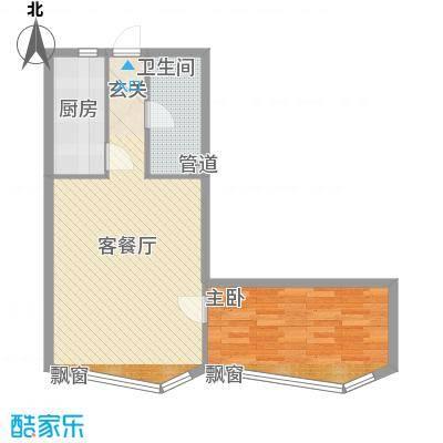 祥瑞家园66.87㎡购物中心户型1室1厅1卫
