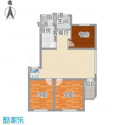 阳光书香苑7.73㎡户型2室1厅1卫