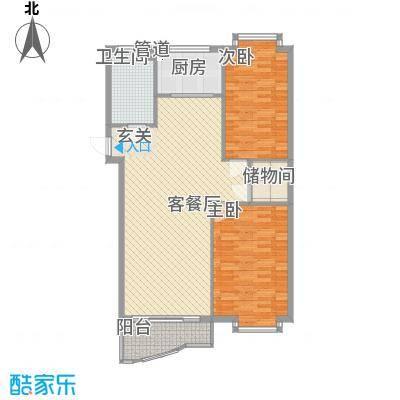 东尚国际寓所61.00㎡户型2室