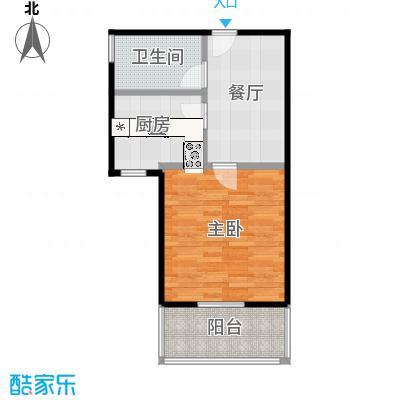中福浦江汇A2户型1室1厅1卫1厨-副本