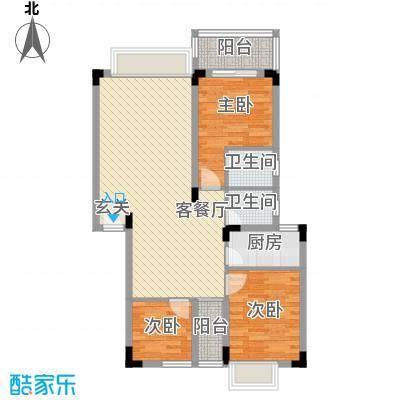 易筑1.47㎡9栋、10栋02、0户型3室2厅2卫1厨