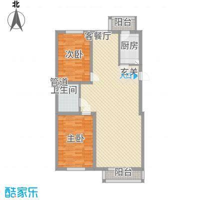 昊景家园11.44㎡C4户型2室2厅1卫