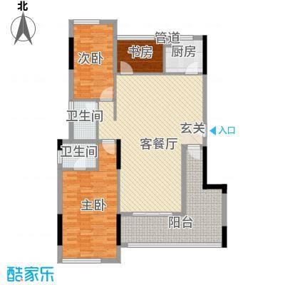 乾城美景3.11㎡5栋户型3室2厅2卫1厨