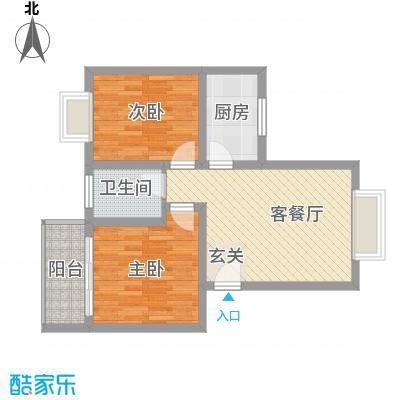 朱雀城市广场74.50㎡户型2室1厅1卫1厨