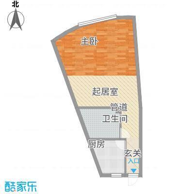祥瑞家园76.68㎡购物中心户型1室1卫