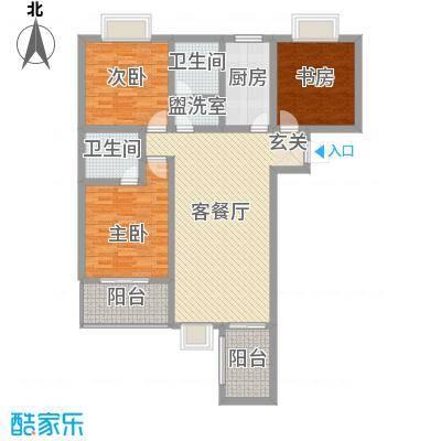 观唐盛景13.44㎡2号楼A同B户型4室2厅2卫1厨