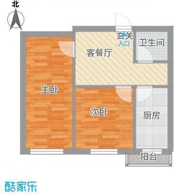 江南印象51.00㎡51-55户型2室1厅1卫