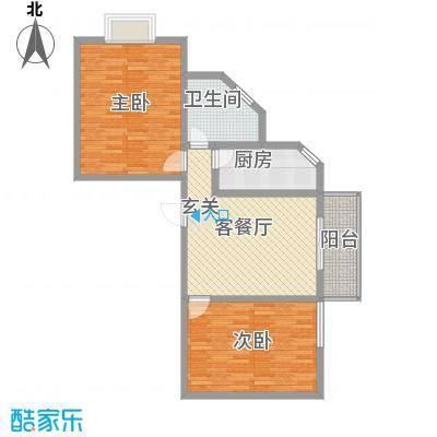 观唐盛景12.54㎡1号楼东单元G户型2室2厅1卫1厨