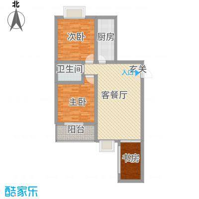 观唐盛景16.50㎡1号楼A户型3室2厅2卫1厨