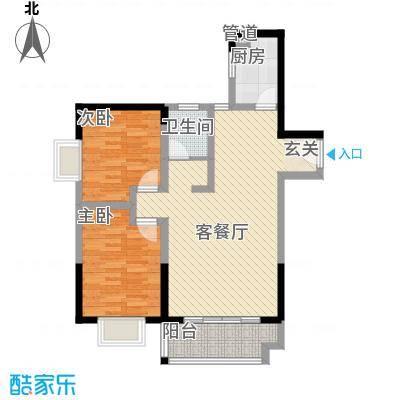恒丰天湘华庭19号B4户型2室2厅1卫