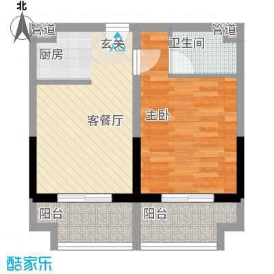恒丰天湘华庭14号A5户型1室2厅1卫