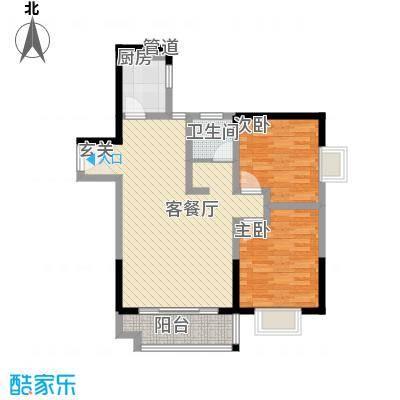 恒丰天湘华庭15号A4户型2室2厅1卫