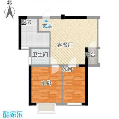 金房玲珑湾C7户型2室1厅1卫