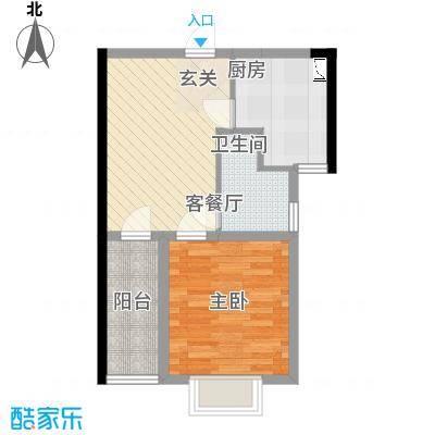 金房玲珑湾C6户型1室1厅1卫