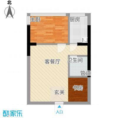 金房玲珑湾C2户型2室1厅1卫