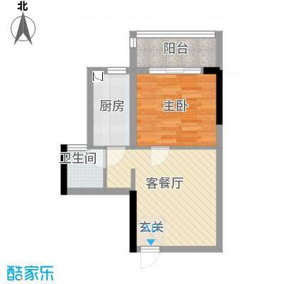 金房玲珑湾B2户型1室1厅1卫