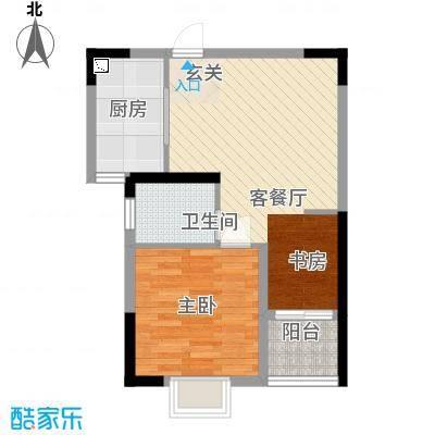 金房玲珑湾B4户型1室1厅1卫