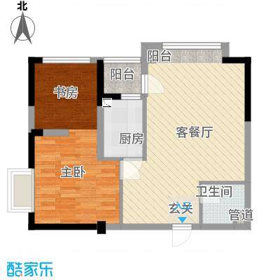 金房玲珑湾C4户型1室1厅1卫