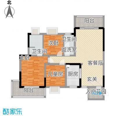金房玲珑湾A1户型3室2厅2卫